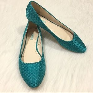 Urban Outfitters Kimchi Blue Turquoise Flats 9